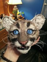 Florida panther cub head, poseable doll WIP by twyliteskyz