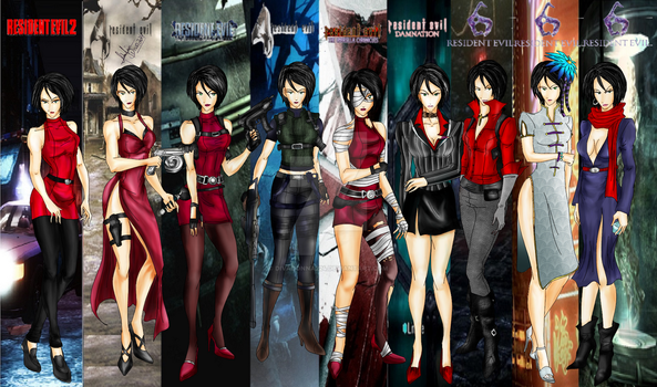Resident Evil: Ada Wong Tribute by divadonna224