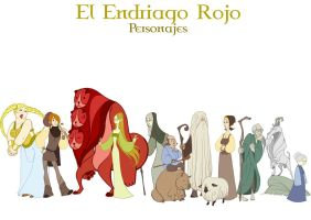 The Red Endriago - characters by Lelia