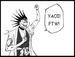 Kenpachi Loves YAOI by joachimsilbakor