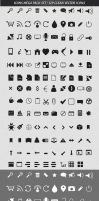 Free Mega Pack Vector Icons Set - 129 Clean Icons by ProRock
