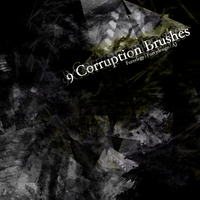 9 Corruption Photoshop Brushes by Fortelegy