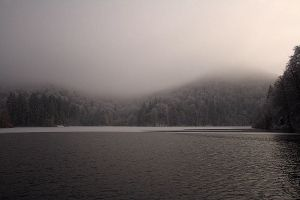 Plitvice: fog from the boat by Ilharess