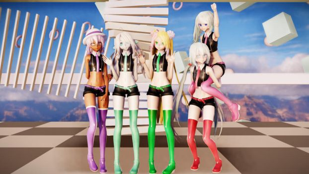 MMD TDA Starstruck model series [UTAU]+DL *UPDATE* by silvereevee132