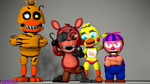 the foxy fighters by crazybot1231