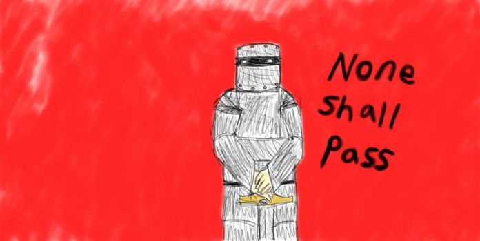 None shall Pass - Monty python by Thecelticfish