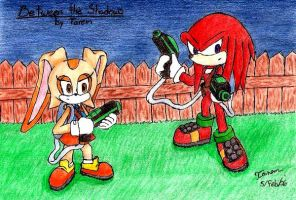 Knuckles- Cream with Waterguns by Tarem