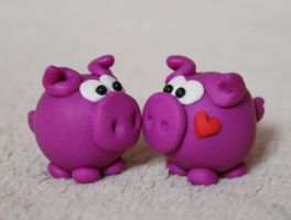 :: two pigs in love :: by Flowerinka
