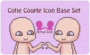 Cutie Couple Icon Base Set by Kiss-the-Iconist