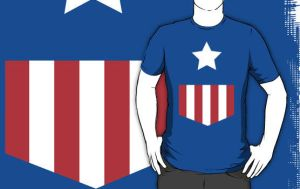 Captian America T-Shirt by drg