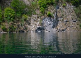 Alpine Lake - Clear Water - Cliff 01 by kuschelirmel-stock
