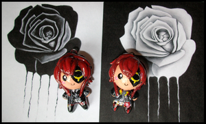 Chibi-Charms: Quinrose Jokers by MandyPandaa