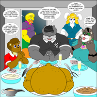 Thanksgiving with Friends by 50percentgrey
