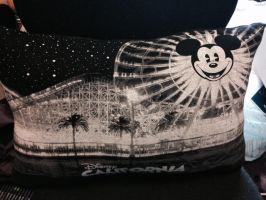 Upcycled Disey TShirt Pillow by o-0-Bhae-0-o
