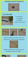 Miniature Pencil Tutorial by MiniatureBaker