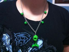 Peashooter necklace by Lunatica-Reiko