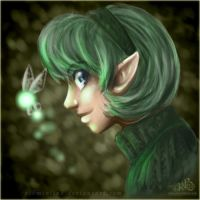 Saria - OoT - art by LiKovacs