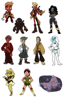 Gemsonas: Order of Amulet Doodles by forte-girl7