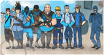 TF2 - Blu Team Group Photo by SuperKusoKao