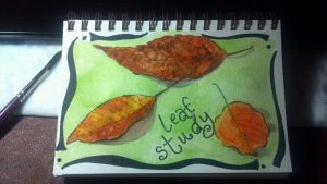 Leaf Study by DragonflysDaughter