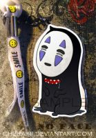 No Face- Keychain by Chukairi