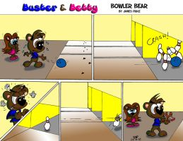 Bowler Bear by JimmyCartoonist