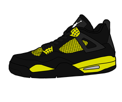 Jordan 4 'Thunder' by MattisamazingPS