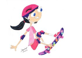 Colored skateboard time by aleprettycat