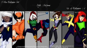X-men Wallpaper Set - Uniforms by danes-sweety