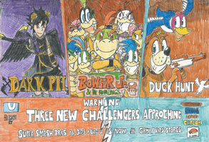 SSB4: SPOILERS!! Three New Challengers Approching by FelixToonimeFanX360
