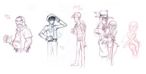 9mm - Character sketches by joslin