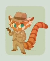 red panda by tinysnail
