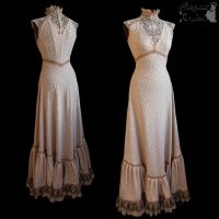 Art Nouveau gown, romantic, ghostly, dreamy by SomniaRomantica