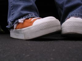 orange shoes by madphotographer