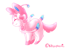 Sylveon by Kitzophrenic