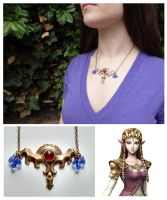 Twilight Princess Zelda - Pendant necklace by AlchemicalCosplay