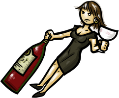 Wine Girl Danielle DeMeester by WhoDrewThis