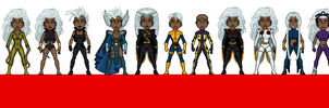 The Evolution of Storm by GEEKINELL
