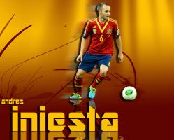 andres iniesta wallpeper by mohammad1214