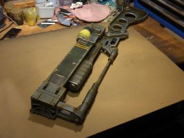 Fallout 3 AER9 Laser Rifle WIP 8 by Thomasotom