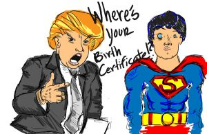 Donald Trump Q to Superman by punkr13