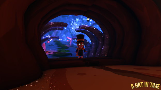 Hat Kid in the Crystal Cave Entrance by Habboi
