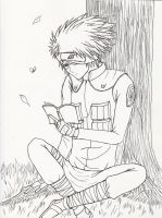 Kakashi taking a break by moonraven373