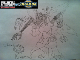 FMA Brotherhood vs Digimon Battle 2 by Omnimon1996