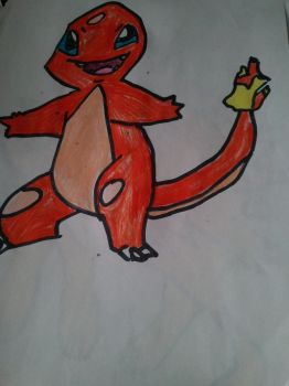 Charmander Drawing by Megamanx3able
