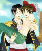 Pirate Levi X Mermaid Eren by JazminKitsuragi