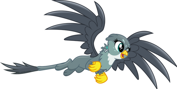 Gabby takes flight by Vector-Brony