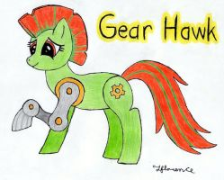 mlp OC pony - Gear Hawk by MetaDragonArt