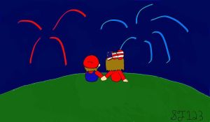 mario and marianas fourth of july :3 by MarioXMariana
