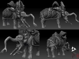 DW V - mount - final sculpt by DeckardX08